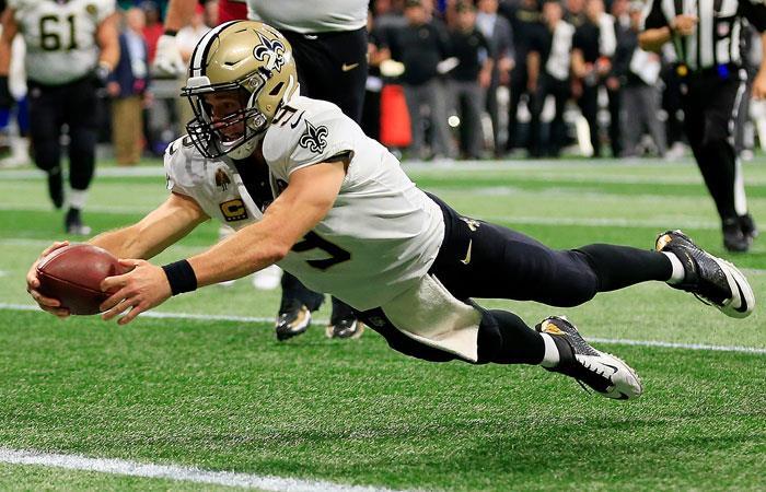 Drew Brees hace nuevo récord en la NFL. Foto: AFP
