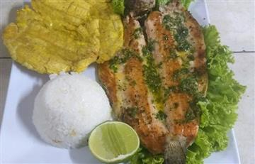 Filete de trucha al ajillo