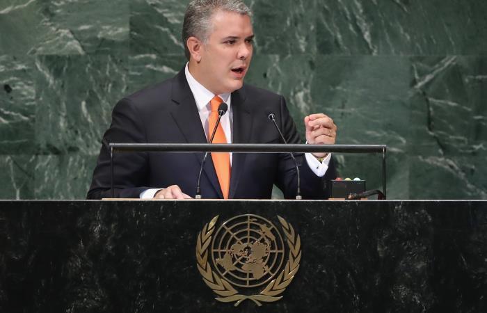 ONU: Duque exige en el fin de la