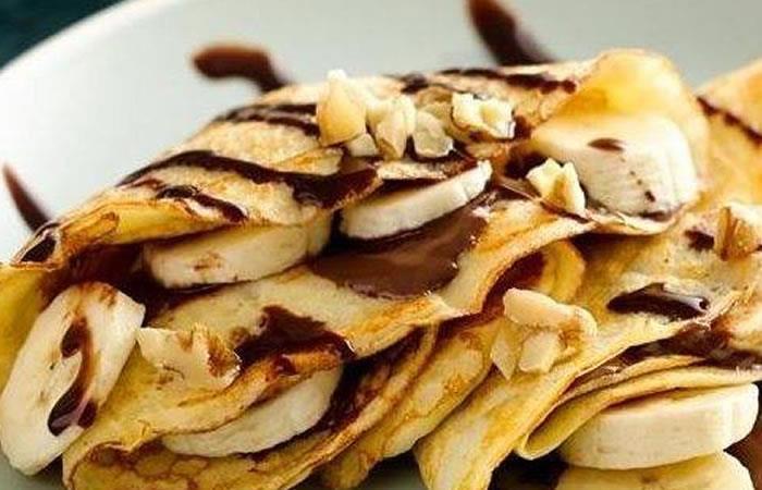 Pancakes de Avellana y Plátano