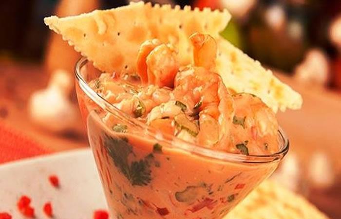 Ceviche de camarones. Foto: Facebook