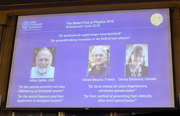 Ganan el Premio Nobel de Física tres pioneros del láser