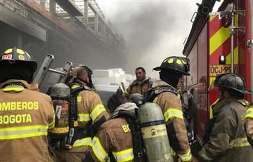 Bogotá: Incendio de grandes proporciones en la Avenida Boyacá