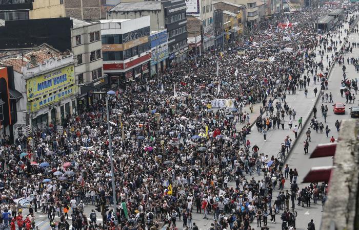 Marchas por la universidad pública en Colombia