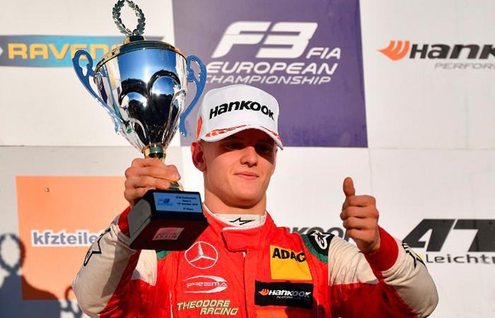 Mick Schumacher campeón de Fórmula 3. Foto: AFP
