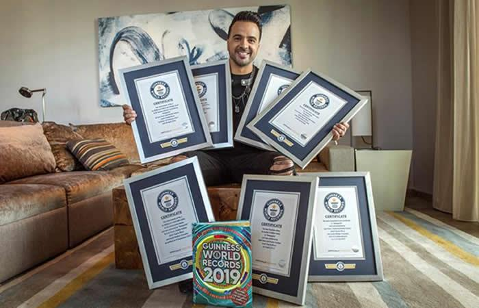 Siete récords Guinness para Luis Fonsi por 'Despacito'
