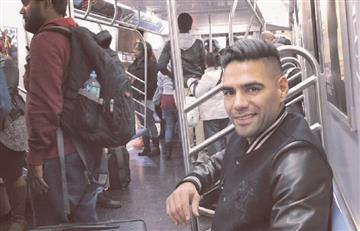 [FOTO] ¿Falcao en el metro de Nueva York?