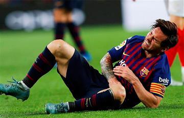 [VIDEO] Messi sufrió fractura en el brazo derecho y se perderá el Clásico ante el Madrid