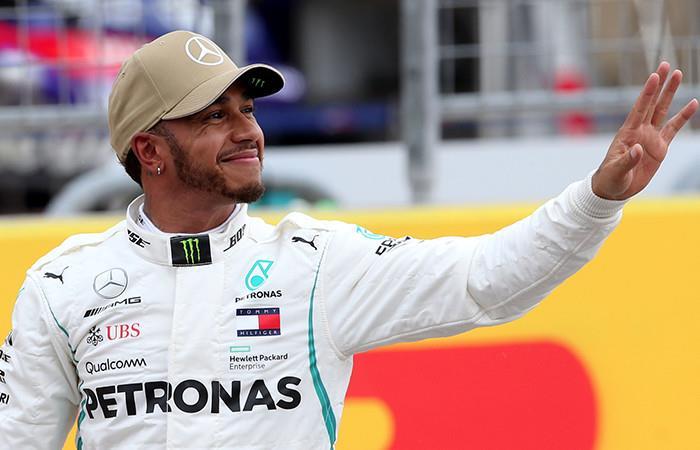 Hamilton logra mejor tiempo. Foto: AFP