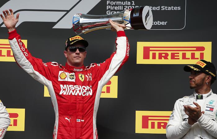 [VIDEO] Kimi Raikkonen se impone en el Gran Premio de Estados Unidos