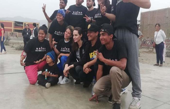 Angelina Jolie viaja a Perú para evaluar la situación de los migrantes venezolanos