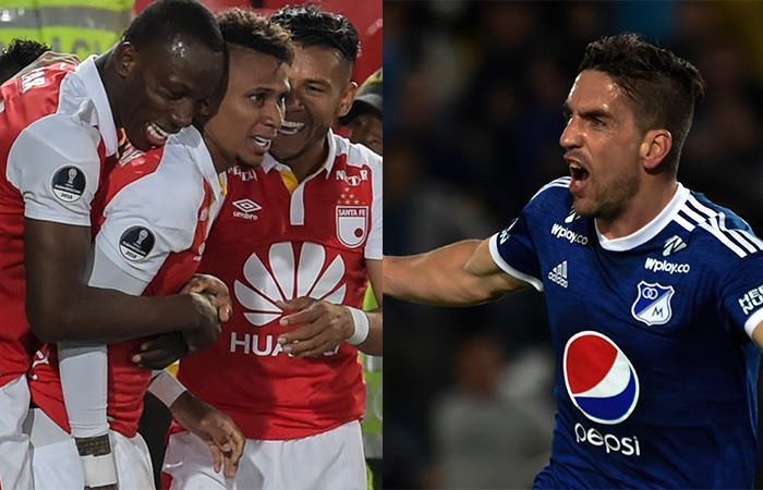 Santa Fe venció a Leones y Millonarios empató con Tolima. Foto: AFP
