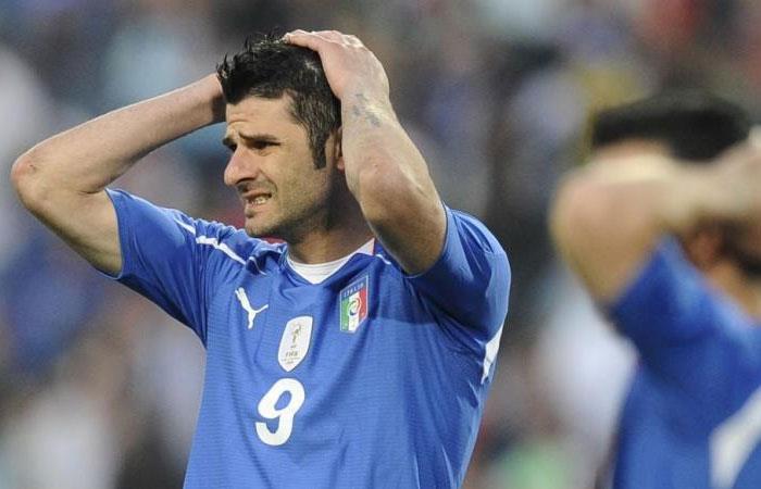 Vincenzo Iaquinta fue campeón del mundo con Italia en 2006. Foto: AFP