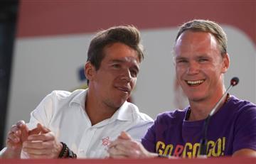 [VIDEO] 9 instantes 'fuera de serie' del paso de Chris Froome por Colombia