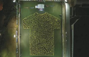 Guinness Records: [VIDEO] Atlético Bucaramanga pasó a la historia con su gran camiseta humana