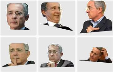 WhatsApp: los nuevos stickers de Álvaro Uribe que son la sensación