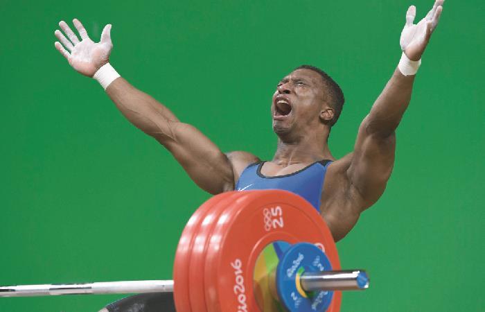 Óscar Figueroa en los Juegos Olímpicos de Rio 2016. Foto: AFP