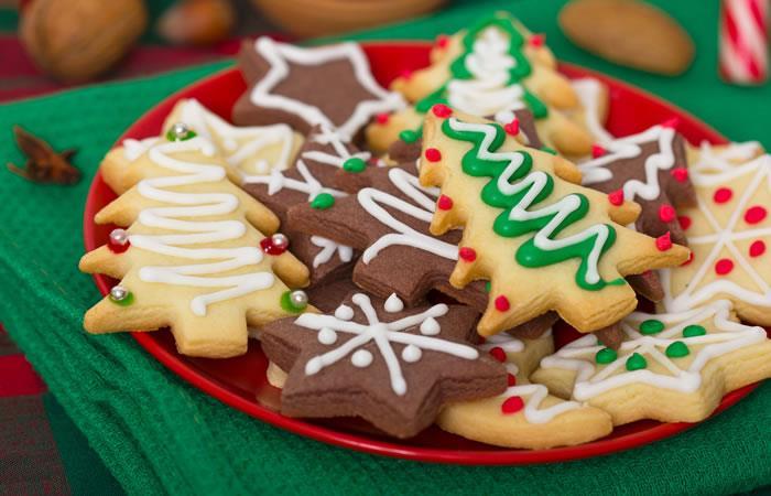 Receta para hacer deliciosas galletas navideñas. Foto: Shutterstock