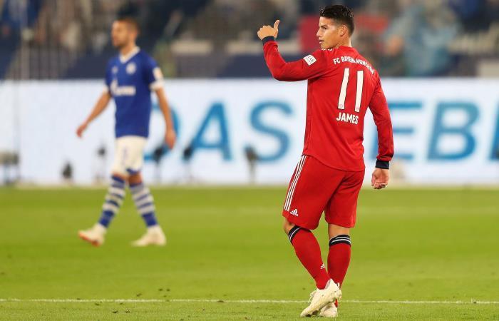 James disputando la Bundesliga con el Bayern Múnich. Foto: EFE
