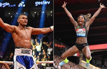 [FOTOS] Caterine Ibargüen y Eléider Álvarez, elegidos deportistas del año en Colombia