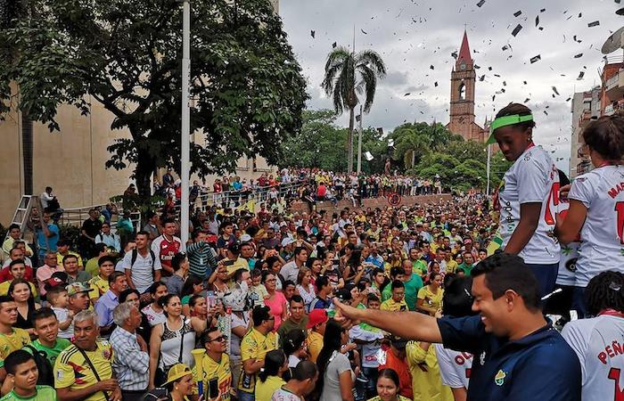 [VIDEO] Gran recibimiento en Huila para las campeonas de la Copa Libertadores
