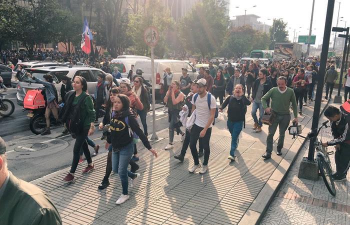 Desarrollo de las marchas estudiantiles del 6 de diciembre. Foto: Colombia.com