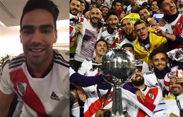 Falcao celebró como loco el título de River en Copa Libertadores