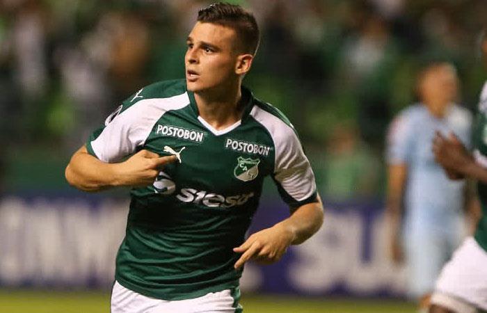 Nicolás Benedetti, goleador de la Copa Sudamericana 2018. Foto: AFP