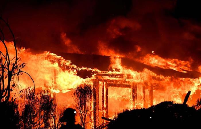 Incendios en California, Estados Unidos. Foto: AFP.
