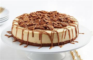 Receta Navideña: Cheesecake de mantequilla de galletas