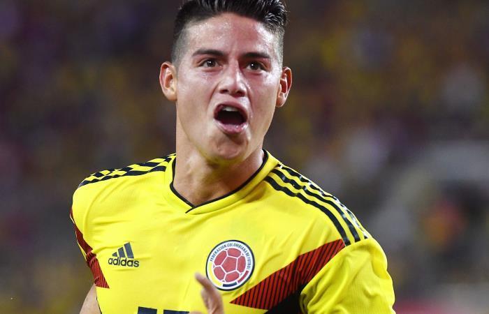 James conmovió a toda Colombia con su gran gesto. Foto: EFE