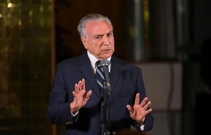 El presidente Temer deberá responder por corrupción. Foto: AFP