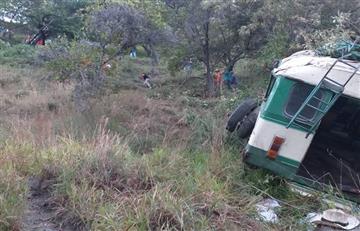Vehículo de transporte informal se volcó en Boyacá