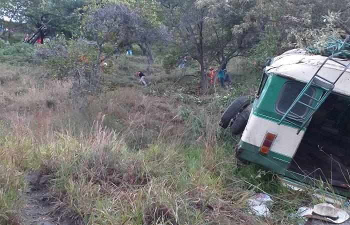Accidente de transporte 'pirata' deja siete muertos en Boyacá