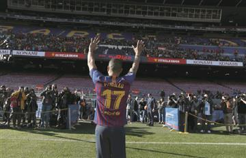 [VIDEO] ¡Le luce! Así fue la presentación de Jeison Murillo en el Camp Nou