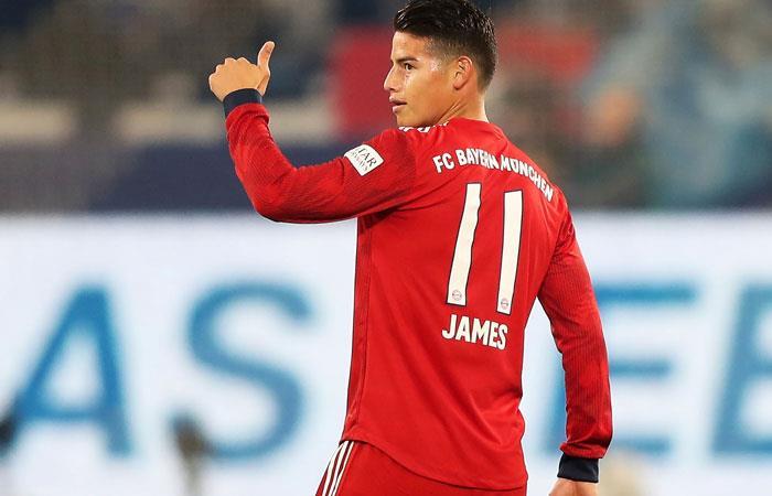 James Rodríguez está listo para jugar con Bayern Múnich