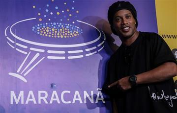 ¡Crack! [FOTOS] Ronaldinho es homenajeado en el Maracaná