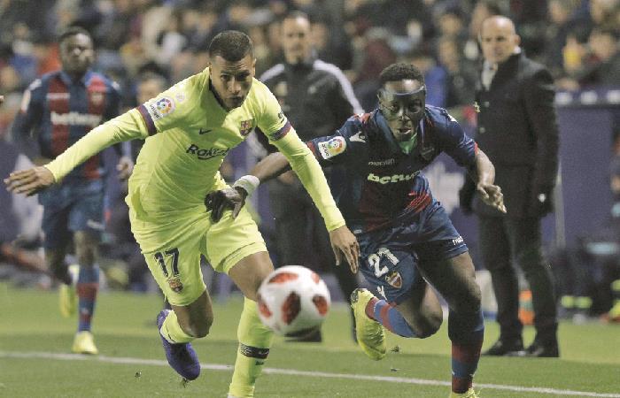 Jeison Murillo jugó los 90 minutos frente a Levante. Foto: EFE