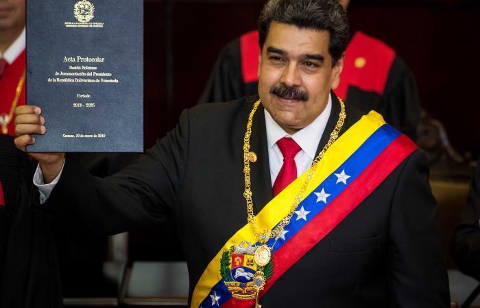 Nicolás Maduro, durante su investidura este 10 de enero. Foto: Twitter