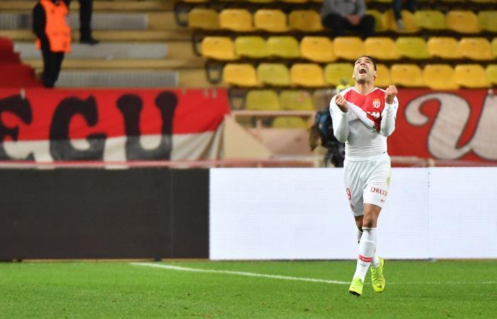Falcao celebra su gol con Mónaco. Foto: AFP