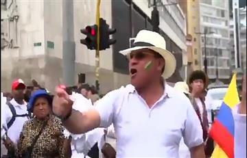 """""""Plomo es lo que hay"""": apareció hombre que amenazó a manifestantes durante 'Marcha por la Paz''"""