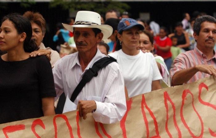 Han sido 7 millones los civiles desplazados internamente en Colombia. Foto: EFE