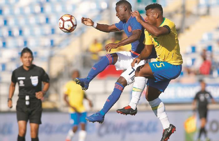 Sudamericano Sub 20: La Selección Colombia empató con Brasil en el inicio del hexagonal final