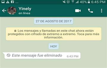 Conoce el truco para poder leer los mensajes eliminados de WhatsApp