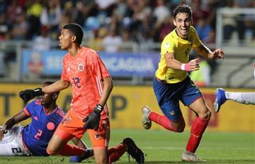 Sudamericano Sub 20: Colombia cae ante Ecuador y complica clasificación al Mundial