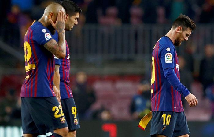 Barcelona lamenta el empate ante Real Madrid. Foto: EFE
