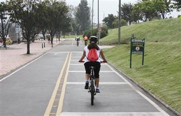 Ciclistas y peatones: los protagonistas del 'Día sin carro y sin moto' en Bogotá