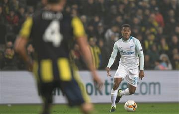 Wilmar Barrios debutó oficialmente con Zenit en la Europa League