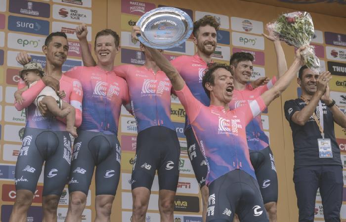 Tour Colombia 2.1: Rigoberto Urán es el primer líder tras la contrarreloj por equipos