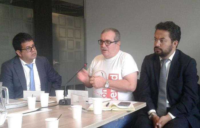 'Timochenko' fue el primero de los 31 líderes de las FARC que deberán comparecer ante la JEP. Foto: Twitter